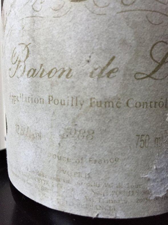 1988 de Ladoucette, Pouilly Fume, Baron de L