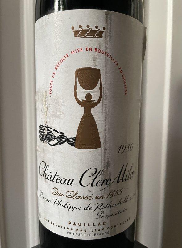 1980 Chateau Clerc Milon 5eme Cru Classe, Pauillac