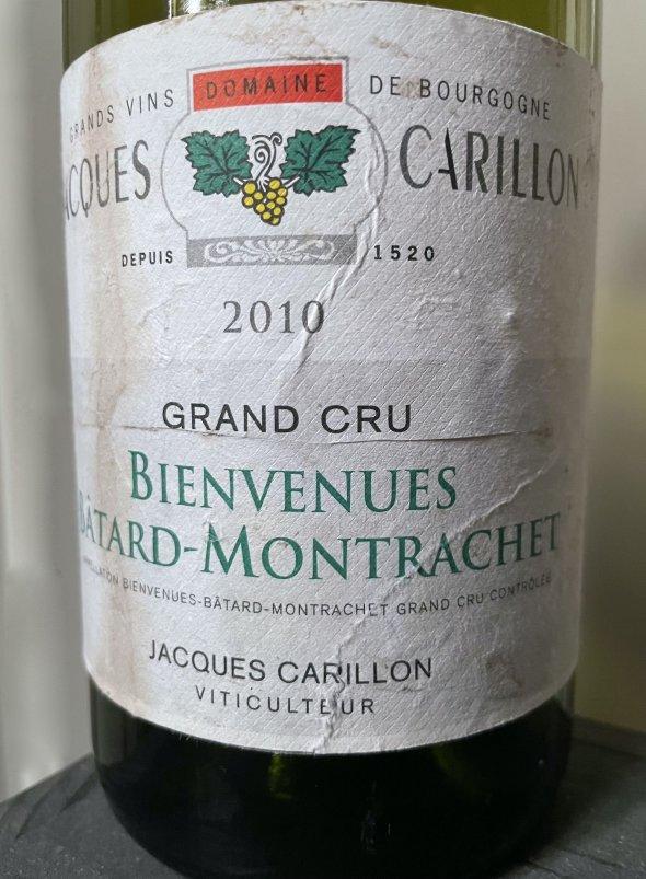 2010 Domaine Jacques Carillon, Bienvenues-Batard-Montrachet Grand Cru