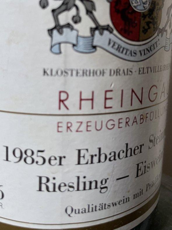 1985 Baron Knyphausen, Erbacher Steinmorgen Riesling Eiswein Auktion, Rheingau