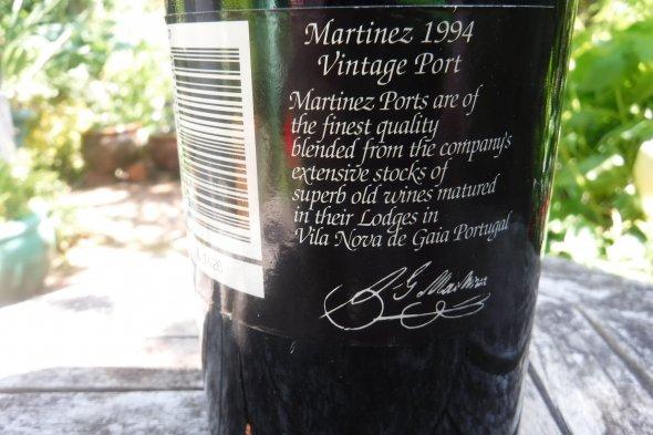 Martinez, Vintage Port