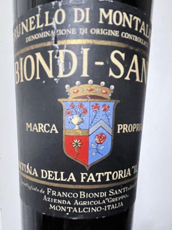 1977 Biondi Santi, Brunello di Montalcino
