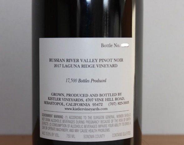 Kistler Vineyards Laguna Ridge Vineyard Pinot Noir 2017