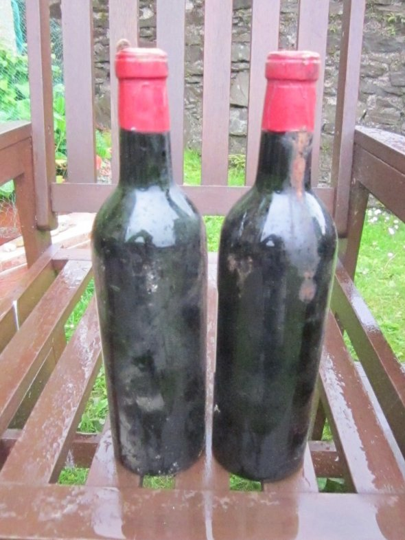 Two Bottles Chateau Lynch Bages Grand Cru Classe, Pauillac 1961