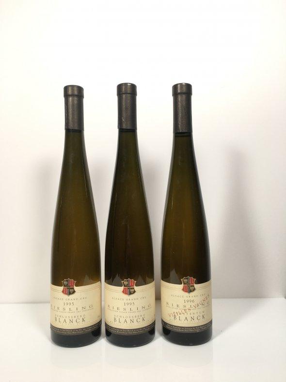 Mixed Paul Blanck, Riesling Lot: Riesling Vieilles Vignes Grand Cru, Furstentum Alsace & Riesling Grand Cru, Schlossberg, 1995