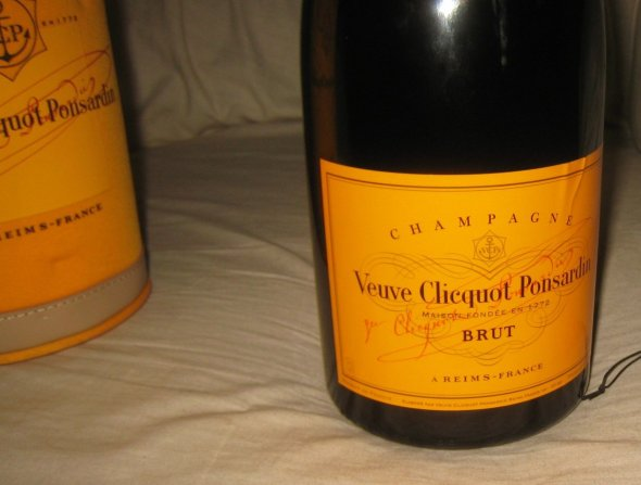 Veuve Clicquot, Yellow Label Brut Champagne. Magnum.   In Ice Jacket.