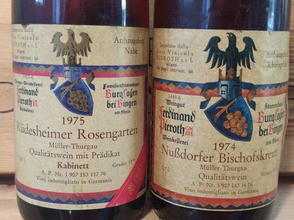 3 Pieroth GmbH, Rudesheimer Rosengarten Muller-Thurgau Kabinett; 3 Pieroth Nubdorfer Bischofskreuz Muller Thurgau