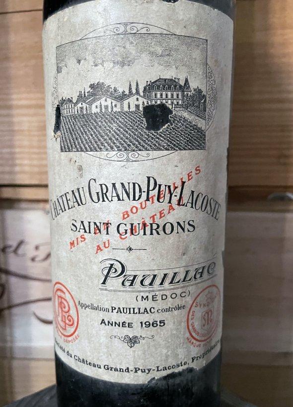 1965 Chateau Grand-Puy-Lacoste 5eme Cru Classe, Pauillac