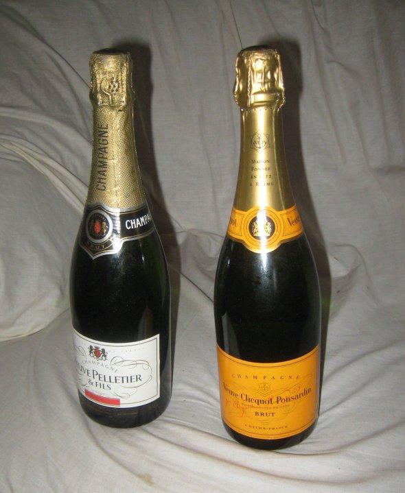 Veuve Clicquot Ponsardin  &  Veuve Pelletier Champagne.