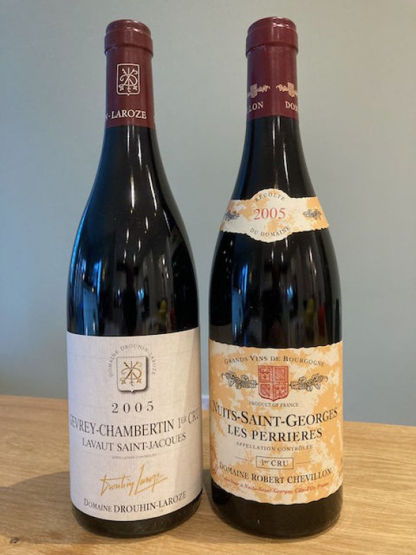 2 bottles of Premier Cru Red Burgundy