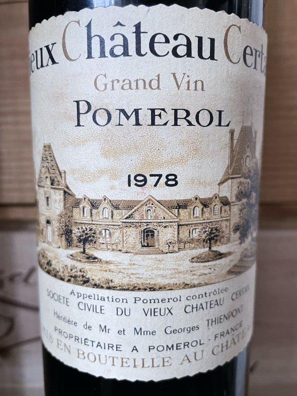 1978 Vieux Chateau Certan, Pomerol