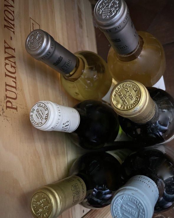 6 bottles Bordeaux white - 1998 Chateau La Louviere, Pessac-Leognan etc.