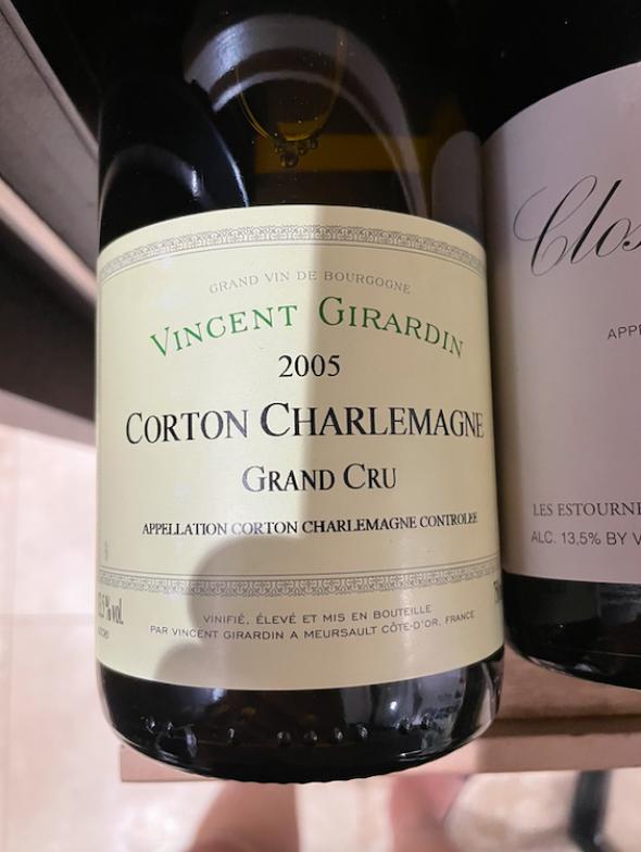 Vincent Girardin, Corton-Charlemagne Grand Cru