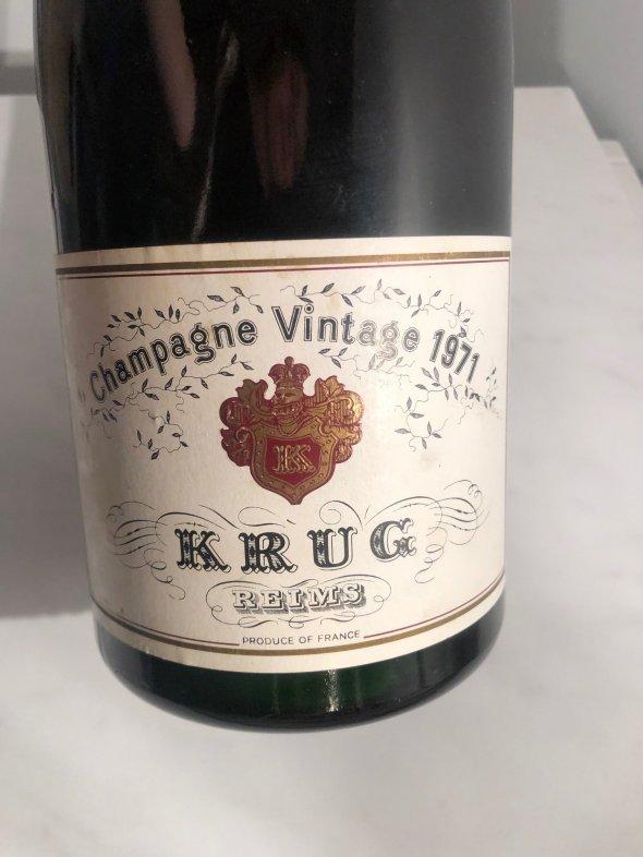 KRUG CHAMPAGNE VINTAGE 1971