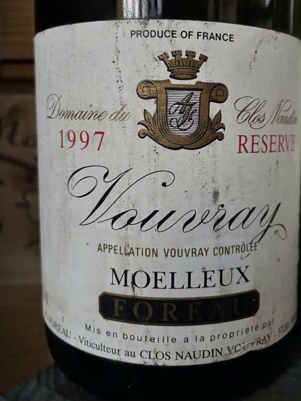 2X 1997 Domaine de Clos Naudin (Foreau), Vouvray, Moelleux Reserve