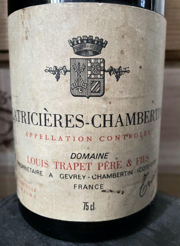 1979 Trapet Pere et Fils, Latricieres-Chambertin Grand Cru