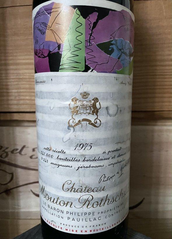 1975 Chateau Mouton Rothschild Premier Cru Classe, Pauillac