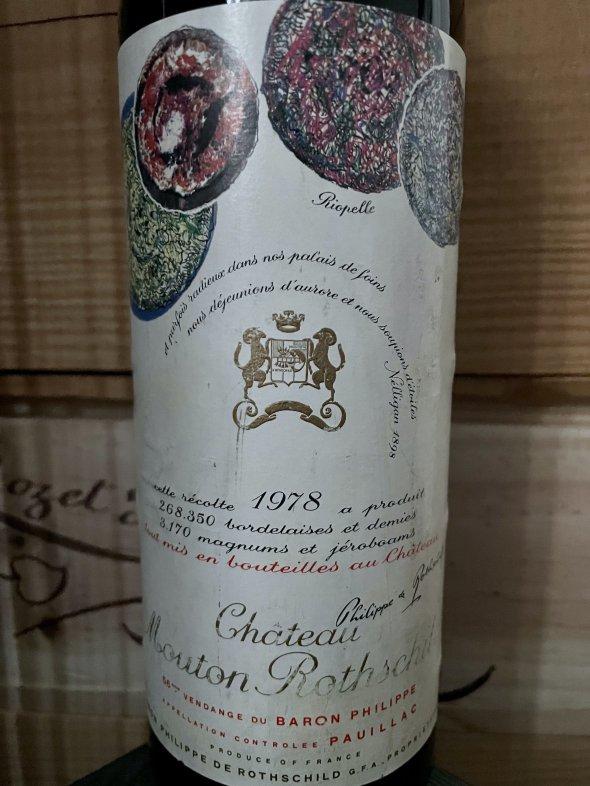 1978 Chateau Mouton Rothschild Premier Cru Classe, Pauillac