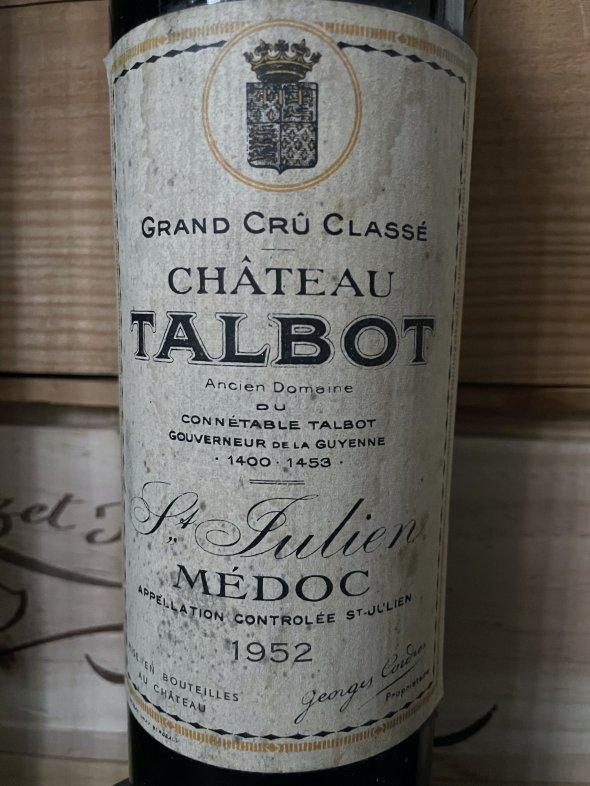 1952 Chateau Talbot 4eme Cru Classe, Saint-Julien