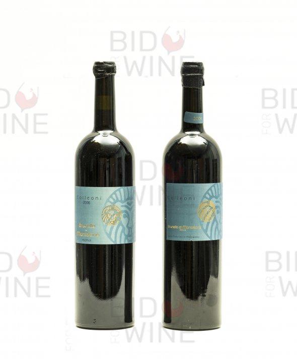 Colleoni Mixed Lot: Brunello di Montalcino 2004 (1 magnum); Brunello di Montalcino Riserva 2006 (1 magnum)