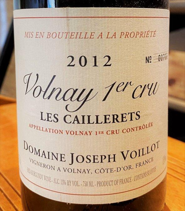 Domaine Joseph Voillot, Volnay Premier Cru, Les Caillerets
