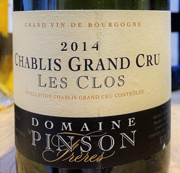 Domaine Pinson Freres, Chablis Grand Cru, Les Clos