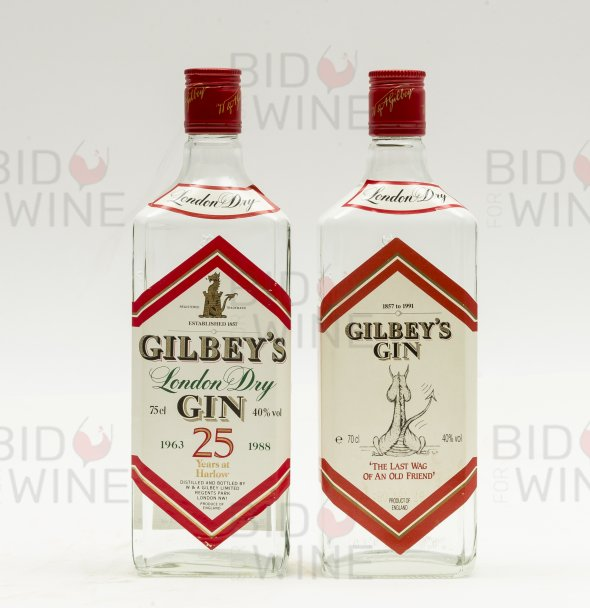 Gilbey's London Dry Gin, collectors' labels