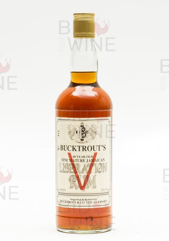 Bucktrout's of Guernsey, 40 Year Old Fine Mature Jamaican 'Liberation' Rum