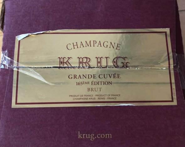 Krug Grande Cuvee 165eme Edition