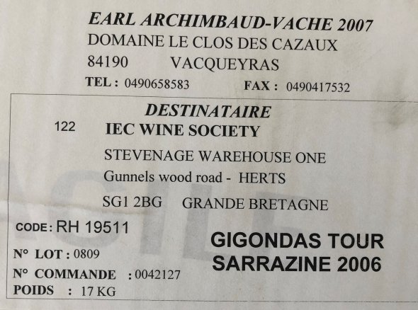 Gigondas La Tour Sarrazine