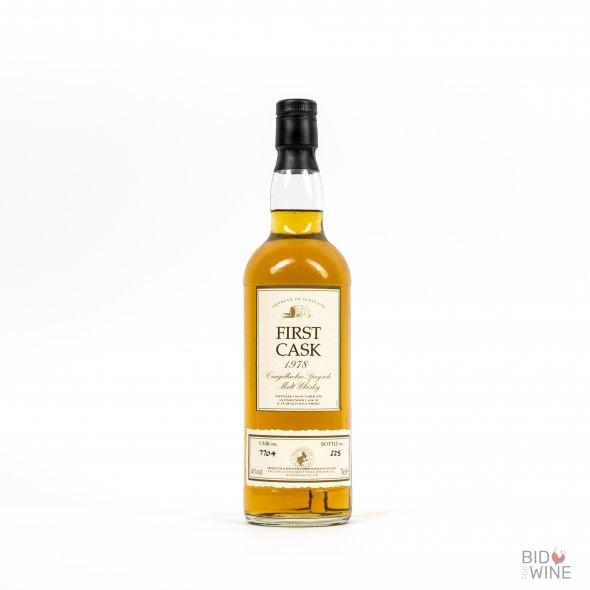 First Cask Speyside Malt 16 Years Old. Distilled at Craigellachie