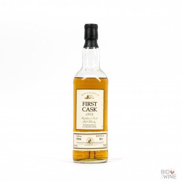 First Cask Highland Malt 20 Years Old. Distilled at Highland Park