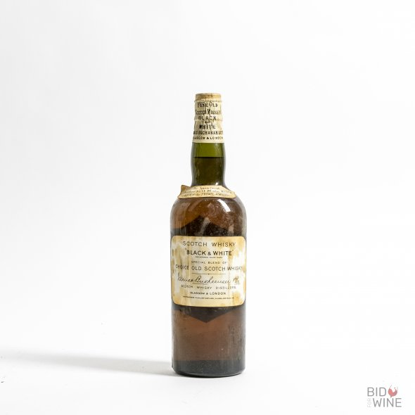 Fine Old Scotch Whisky 'Black & White' Glentauchers-Glenlivet Distillery