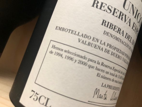 Unico, Reserva Especial,  Vega Sicilia (1994, 1996, 2000)