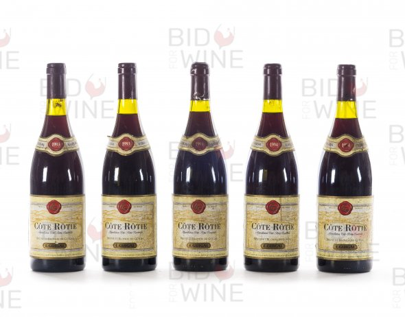 Guigal, Cote Rotie Brune et Blonde Vertical: 1993 (2 bottles), 1994 (3 bottles)